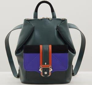 Paula Cademartori Green/Violet/Black/Orange Ivy Backpack Bag