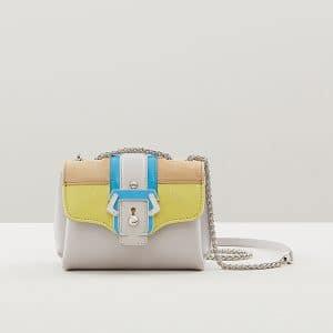 Paula Cademartori Grey/Yellow/Beige/Blue Kate Crossbody Bag