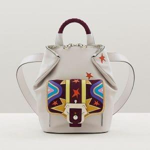 Paula Cademartori Ice Grey with Big Bang Inlay Petite Ivy Backpack Bag