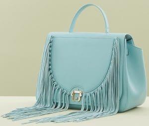 Paula Cademartori Light Blue Fringed Iris Bag