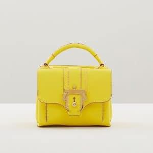 Paula Cademartori Neon Yellow with Velvet Rose Edging Dun Dun Bag