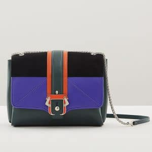 Paula Cademartori Pine Green/Violet/Black/Orange Caroline Bag