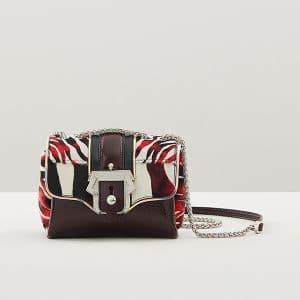 Paula Cademartori Plum Printed Pony Kate Crossbody Bag