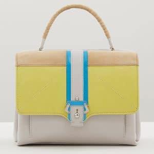 Paula Cademartori Yellow/Grey/Beige/Blue Faye Bag