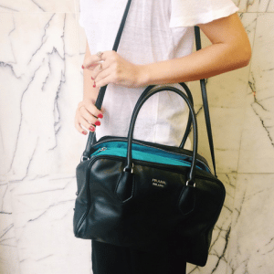 Prada Black/Turquoise Inside Bag