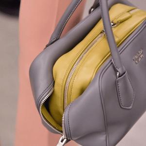 Prada Grey/Olive Green Inside Bag