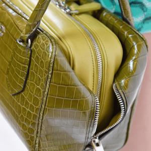 Prada Olive Green Crocodile/Calfskin Inside Bag
