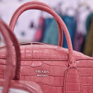 Prada Pink Crocodile Inside Bag
