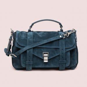 Proenza Schouler Baltic Green Suede PS1 Medium Bag
