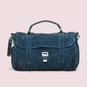 Proenza Schouler Baltic Green/Pepe Suede PS1 Fringe Medium Bag