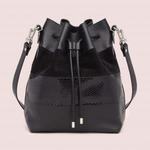 Proenza Schouler Black Ayers/Suede/Leather Large Bucket Bag