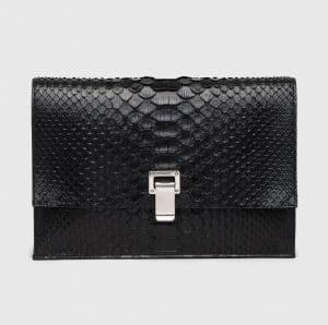 Proenza Schouler Black Python Small Lunch Bag