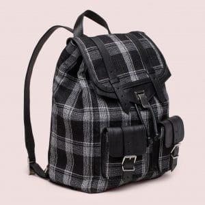 Proenza Schouler Black/White Jacquard PS1 Backpack Bag