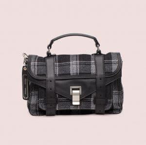 Proenza Schouler Black/White Jacquard PS1 Tiny Bag