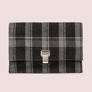 Proenza Schouler Black/White Jacquard Small Lunch Bag