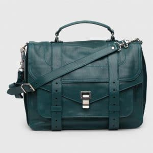 Proenza Schouler Dark Teal PS1 Large Bag