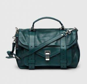 Proenza Schouler Dark Teal PS1 Medium Bag