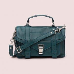 Proenza Schouler Dark Teal PS1 Tiny Bag