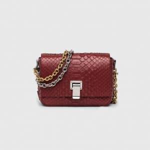 Proenza Schouler Garnet Python Courier Extra Small Bag