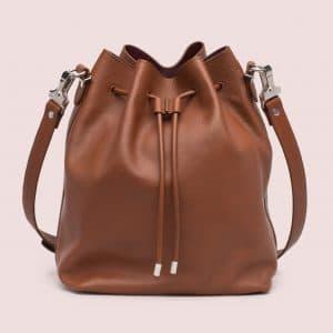 Proenza Schouler Nice Tan/Oxblood Large Bucket Bag