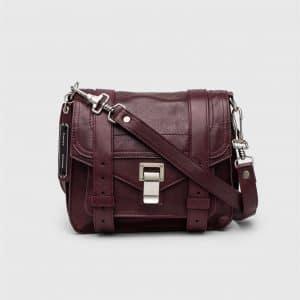 Proenza Schouler Oxblood PS1 Pouch Bag