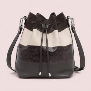 Proenza Schouler Pepe/Talc Ayers/Suede/Leather Large Bucket Bag