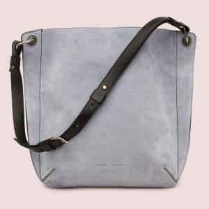 Proenza Schouler Polar Blue Suede Large Prospect Bag