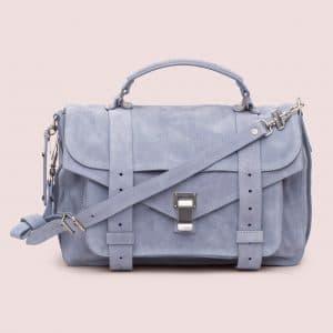 Proenza Schouler Polar Blue Suede PS1 Medium Bag