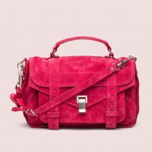 Proenza Schouler Raspberry Suede PS1 Medium Bag