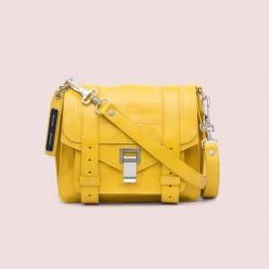 Proenza Schouler Winter Yellow PS1 Pouch Bag