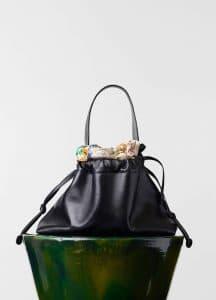 Celine Black/Multicolour Foulard Drawstring Bag