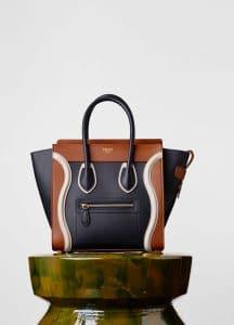 Celine Black/White/Brick Micro Luggage Bag