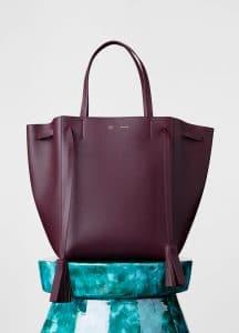 Celine Burgundy Cabas Phantom with Tassels Medium Bag