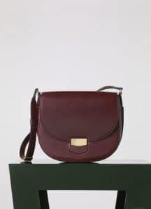 Celine Burgundy Natural Calfskin Trotteur Medium Bag