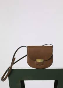 Celine Chestnut Natural Calfskin Trotteur Small Bag