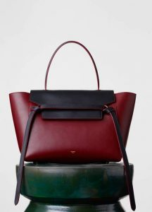 Celine Dark Ruby/Navy Mini Belt Bag