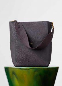 Celine Dark Taupe Sangle Seau Bag