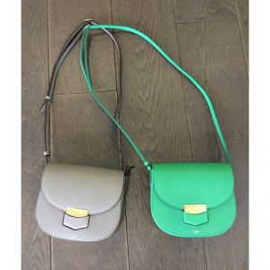 Celine Grey and Green Trotteur Bags