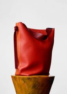 Celine Light Ruby/Dark Orange Oversized Twisted Cabas Bag
