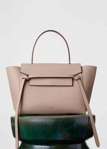 Celine Light Taupe Grained Calfskin Mini Belt Bag