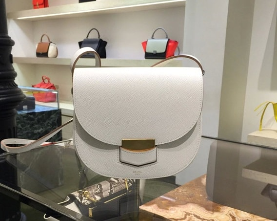 celine bag designer  celine white trotteur