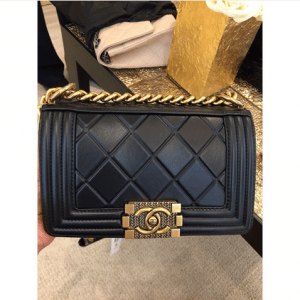Chanel Black Embossed Paris-Salzburg Boy Old Medium Bag 2