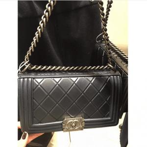 Chanel Black Embossed Paris-Salzburg Boy Old Medium Bag 4
