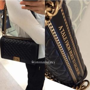 Chanel Black Quilted Paris-Salzburg Boy New Medium Bag