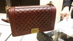 Chanel Burgundy Quilted Paris-Salzburg Boy New Medium Bag