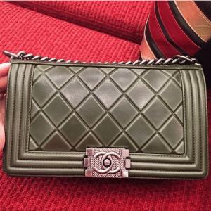 Chanel Grey Paris-Salzburg Boy Bag 2