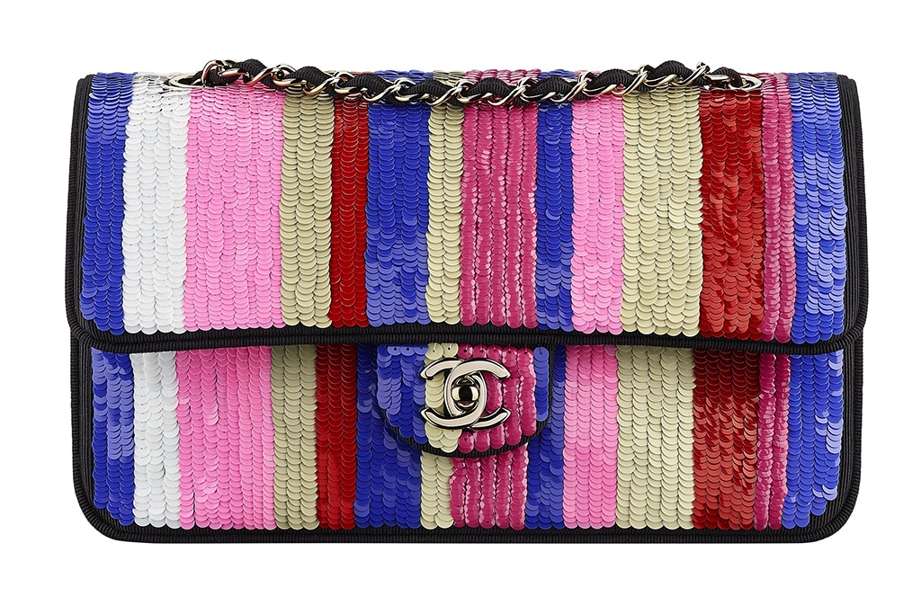 Chanel Multicolor Sequin Embellished Flap Bag - Cruise 2016