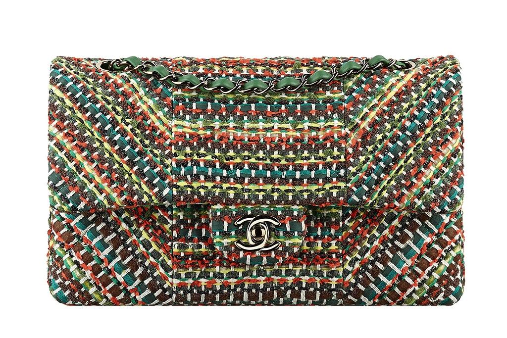 Chanel Multicolor Tweed Flap Bag - Cruise 2016