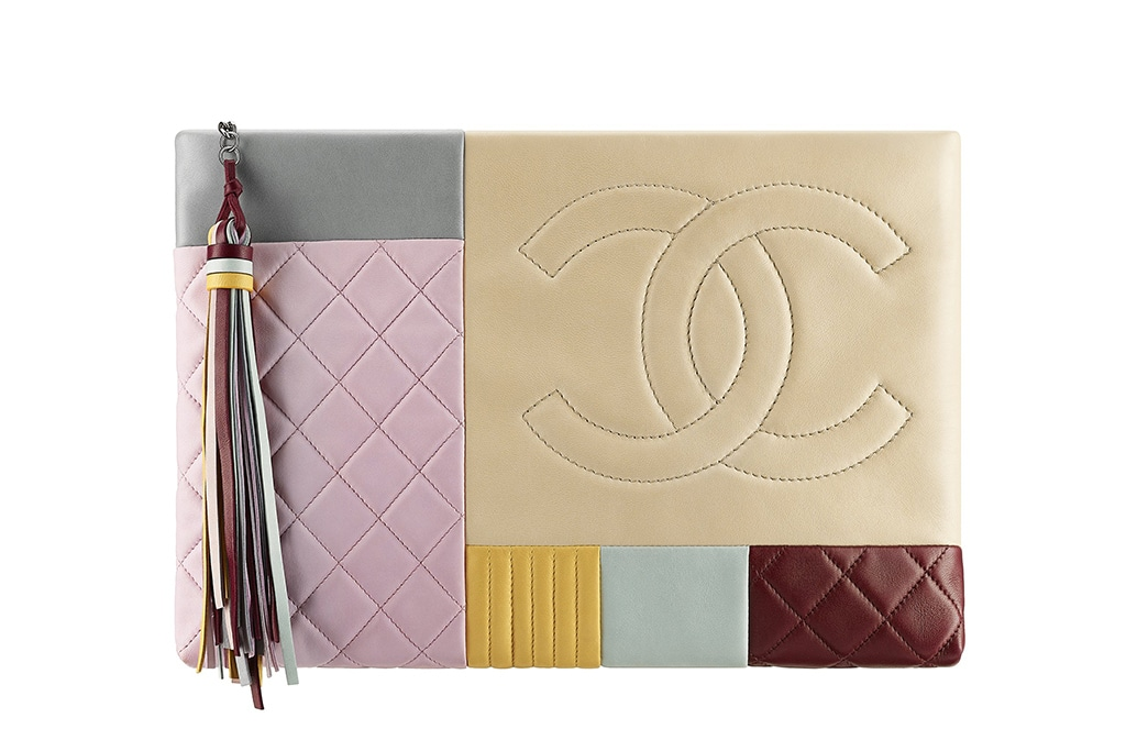 Chanel Multicolor Zipped Clutch Bag - Cruise 2016