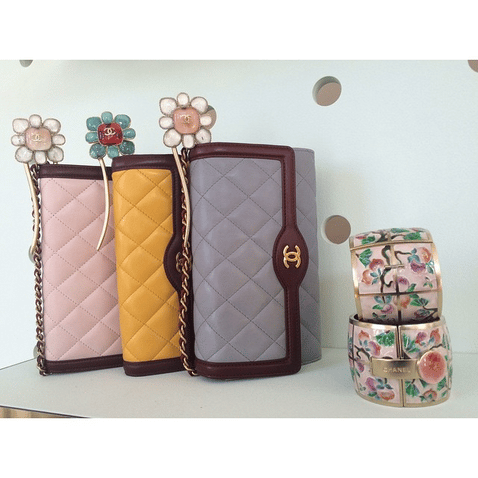 Chanel Pink/Yellow/Grey Flap Bags - Cruise 2016